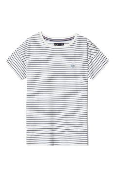 Fred Perry - Striped T-Shirt Snow White