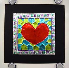 Art with Mrs. Nguyen (Gram): Jim Dine Inspired Embossing