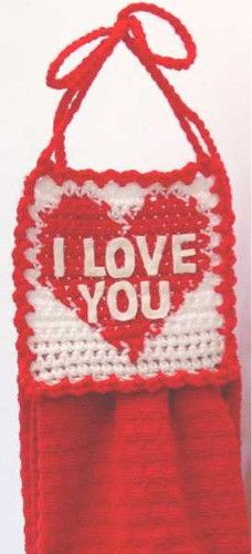 Maggie's Crochet · Free Valentines Day Towel Topper Pattern. ❤CQ #crochet #hearts #valentines #love