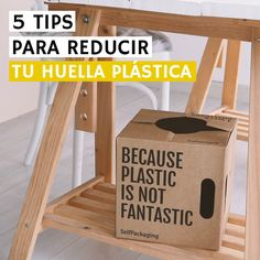 5 tips para reducir tu huella ambiental plástica. Eco Friendly, Inspire, Education, Plants, Frases, Climate Change, Remainders, Sustainability, Foot Prints