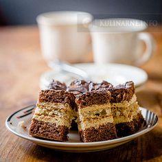 Bardzo smaczne, kremowe ciasto o smaku cappuccino, które z powodzeniem może zastąpić tort urodzinowy. Przepis pochodzi ze zbiorów siostry Anastazji.  Składniki   I ciasto  8 jajek 160 g mąki pszennej 40 g kakao 280 g cukru 1 łyżeczka proszku do pieczenia  II ciasto  200 g wiórków kokosowych 5 białek 1 szklanka cukru 1 łyżeczka proszku do pieczenia  Krem  5 żółtek 3 łyżki mąki pszennej 1 budyń śmietankowy (proszek, bez cukru) 1 łyżka cukru waniliowego 2 szklanki mleka 3/4 szklanki cukru 2...