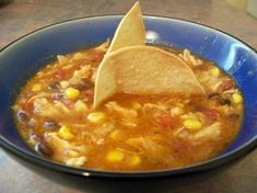 The Best Chicken Tortilla Soup.  Looking for something similar to Panera's recipe and this looks pretty close except the corn and black beans aren't listed (but are in the picture). So, I'll try it with a can of black beans and a bag of frozen corn added.