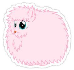 'Fluffle Puff Stare' Sticker by Fluffle-Puff Princess Cadence, Princess Celestia, Disney Princess, 19th Birthday Cakes, Disney Pop Art, Fluffy Puff, Queen Chrysalis, Unicorn Stickers, Twilight Sparkle