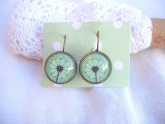Antiqued bronze dandelion earrings £6.00