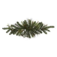 Pine Tabletop Swag - Christmas Elves