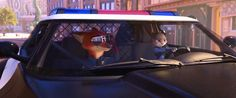 Disney Zootopia / Zootropolis - officer Judy Hopps and Officer Nick Wilde - the best part of the end of this movie. Not only ate they new to the force and both very tiny animals but they've got the most big huge badass police car I've ever seen! Nick Wilde, Best Disney Movies, Pixar Movies, Disney Day, Disney Pixar, Disney Animation, Walt Disney, Disney Characters, Officer Judy Hopps