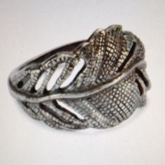 """Beyond Rings """"Enchanted Collection"""" Silver Feather Size 6. Never worn. Oxidezed silver finish. Inspired by nature crafter by artisans. Measurements: 1.25"""" wide, 0.5"""" long. Jewelry"""