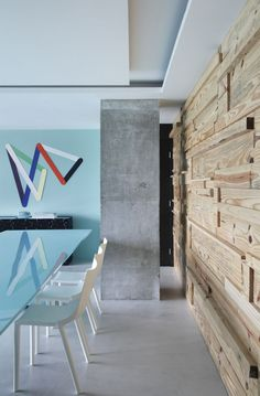 timber+concrete+colour combo | RL House by Studio Guilherme Torres