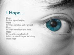 I hope eye