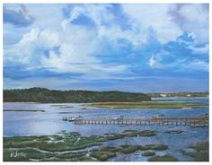 Hilton Head Marsh, Original pastel painting by the fine artist Eric Soller
