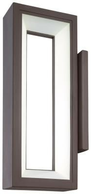 Kovacs LED Outdoor Wall Sconce From The Skylight Collection Textured Dorian  Bronze Outdoor Lighting Wall Sconces