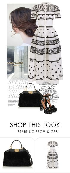 """""""Untitled #345"""" by xenia-tsi ❤ liked on Polyvore featuring Fendi, Temperley London, Alaïa and monochrome"""