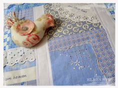 Ideas for using vintage linens...baby quilts. Love this idea and I have so many linens, and pieces of linens at Fields of Treasure!  I need to do this! Vintage Linen, Upcycled Vintage, Antique Lace, Upcycled Crafts, Vintage Fabrics, Vintage Sewing, Repurposed, Embroidery Thread, Vintage Embroidery