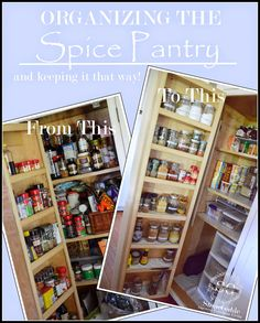 I love to organize! But that does not mean that I am a super organized person!!! Not at all! I would say I am average, at best! My spice pantry is a great example of a very disorganized and costly mess! It had not been cleaned and cleared out in a couple of years. So …