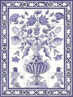 Tile on pinterest delft portuguese tiles and victorian for Delft tile mural