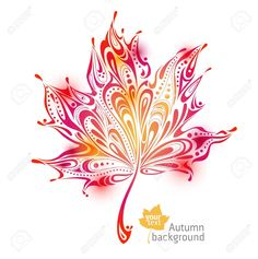 Illustration of abstract autumn leaf background vector art, clipart and stock vectors. Fall Leaves Tattoo, Autumn Tattoo, Autumn Leaves Background, Leaf Background, Herbst Tattoo, Sister Tattoos, Matching Tattoos, Leaf Art, Flower Tattoos