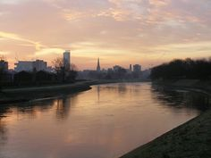 The River Irwell at Salford, looking towards Manchester city centre