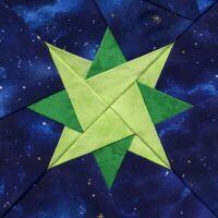 """Starlet"" quilt block."