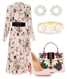 """Без названия #3780"" by claire-hamilton-bristol on Polyvore featuring мода, Biancoghiaccio, Gucci, Christian Louboutin, Beck и Irene Neuwirth"