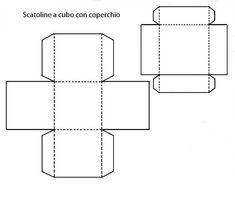 le sagome per realizzare scatoline ,sono varie di dimensione e forme , utilizzabili sia come porta confetti , che come scatola per contenere un regalo,