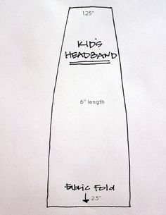 Cinta para el pelo DIY Headbands template measurements for kids Headband Crafts, Sewing Headbands, Kids Headbands, Fabric Headbands, Crafts For Kids To Make, Sewing Projects For Beginners, Learn To Sew, Cute Crafts, Fabric Scraps