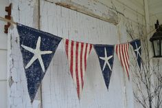 Size MED. Starfish Olde American Flag Patriotic