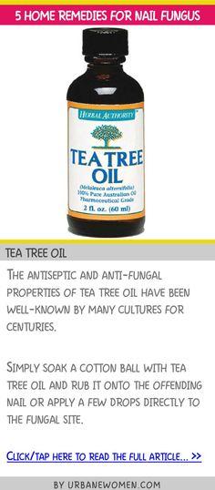 5 home remedies for nail fungus - Tea tree oil