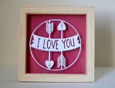 Je t'aime en papier coupe. Parfait cadeau de Saint Valentin