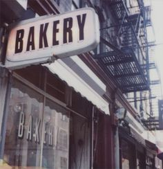 Polaroid Print New York City Bakery Sign Fine by futurowoman Bakery Sign, Bakery Cafe, Cafe Restaurant, Food Trucks, Opening A Bakery, Doughnut Muffins, Vintage Bakery, Pastry Shop, Shop Fronts