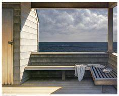 Sea Bench Daniel Pollera 6920   Paper: 16 1/2 x 20 1/2 Image: 16 x 20   Retail $18.00