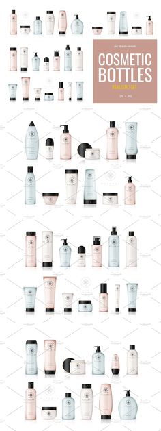 Cosmetic Bottles, Container Design, Cosmetics, Drugstore Makeup
