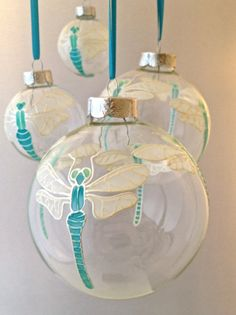 Dragonfly Christmas Bauble by ToastedGlass on Etsy