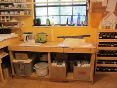 The dye and soap making area (overall) by haldechick, via Flickr