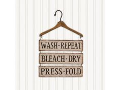 Metal Laundry Signs with Wooden Hanger Primitive Country Wall Decor #Unbranded #PrimitiveCountryRustic