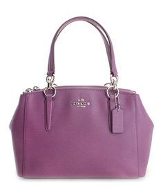 Loving this Mauve Christie Mini Leather Satchel on #zulily! #zulilyfinds