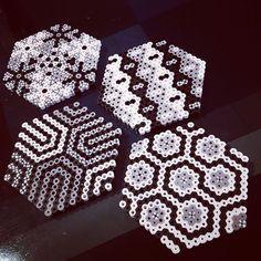Coasters perler beads by  cmrenoud