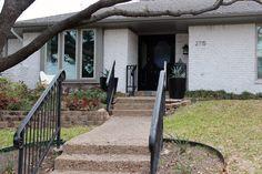 How to Limewash Brick – Jenny Garvinyasa - Home & DIY Siding Colors For Houses, Exterior Paint Colors For House, Paint Colors For Home, Paint Colours, Exterior Colors, House Colors, Exterior Remodel, Exterior Siding, Bungalow Exterior