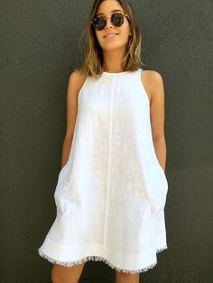 Ruby Dress/Top - this simple sleeveless top/dress features a high neckline, cutaway ar...