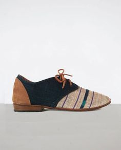 """I just discovered Osborn shoes and am in love. From their story:     """"While working at an orphanage in Guatemala, [founder Aaron Osborn] met some cobblers and, next he knew, he was selling shoes to people the world over.    We design in Greenpoint, Brooklyn and trek around the Guatemalan highlands to source and produce. Every design is a new scavenger hunt...Osborn has an uncompromising commitment to process and beauty."""""""