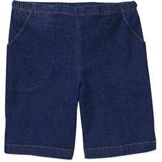 0cd1e883a0d Walmart  Faded Glory Women s Plus-Size Cargo Capri Pants with Knit ...