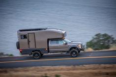 Diy Truck Camper with Bathroom Truck Camper Shells, Truck Bed Camper, Off Road Camper, Popup Camper, Diy Camper, Slide In Truck Campers, Camper Bathroom, Utility Truck, Custom Campers