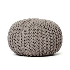 Fab.com | Knitted Pouf Light Gray
