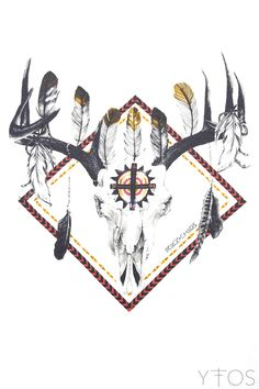 'Feather Chief' Beige Raglan Top