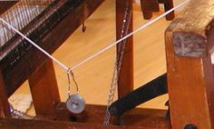 Great way to tension loose warp threads....