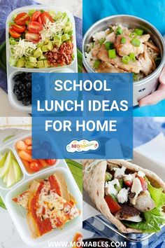 If you're in need of some school lunch ideas that are quick to make, easy to pack, kid-approved, and flexible enough to substitute when you don't have an ingredient on hand, you're at the right place. Cold Lunches, Lunch Snacks, Lunches And Dinners, Lunch Recipes, Real Food Recipes, Dinner Recipes, Lunch Box, Easy Recipes, Healthy Recipes