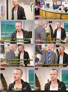 Pinkman sells meth in the office...  hahaha would be awesome!