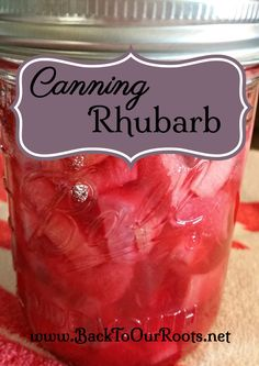 Rhubarb is one of those things that I hated as a kid and discovered I liked as an adult. Let me walk you through the process of canning rhubarb. Canning Tips, Home Canning, Canning Food Preservation, Preserving Food, Rhubarb Recipes, Rhubarb Dishes, Rhubarb Ideas, Canned Food Storage, Meals In A Jar