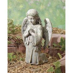 Elegant Celtic Kneeling Angel