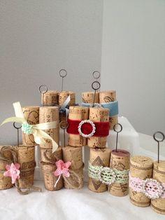 Unique Wine Cork Photo Holders Memo Clips Wine Lover Gift Millinery Rhinestones | eBay