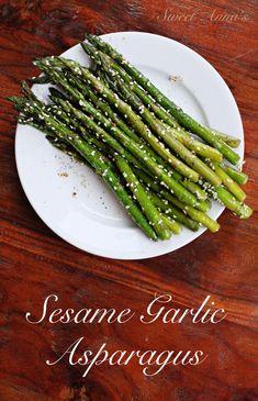 Sesame Garlic Asparagus | Sweet Anna's